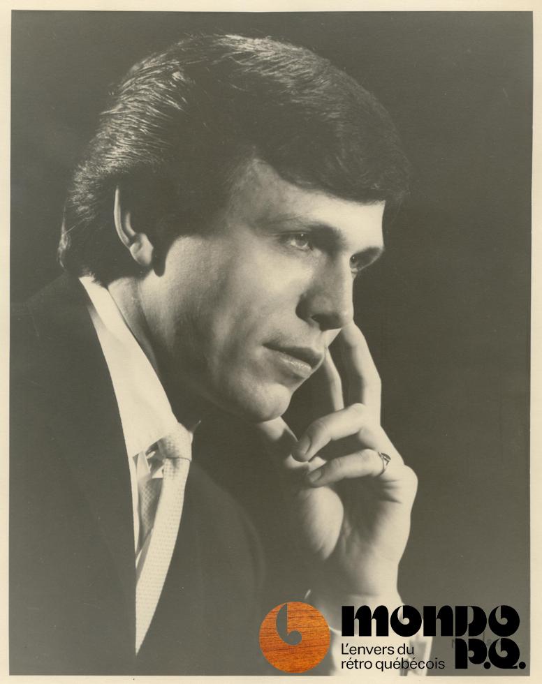 Première photo promotionnelle de Mondor alors qu'il chantait pour le groupe Les Spoutniks (de Joliette).