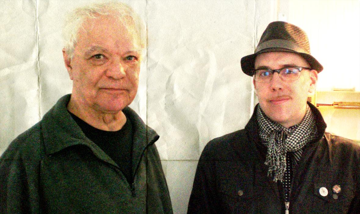 Avec Yvon Hubert, printemps 2012.