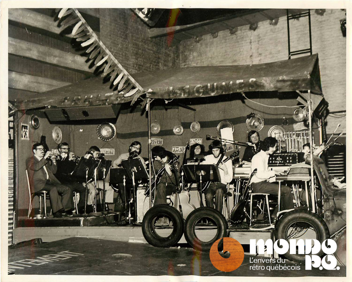 Les musiciens de Hair avec Leon Aronson (1er à gauche à la trompette).