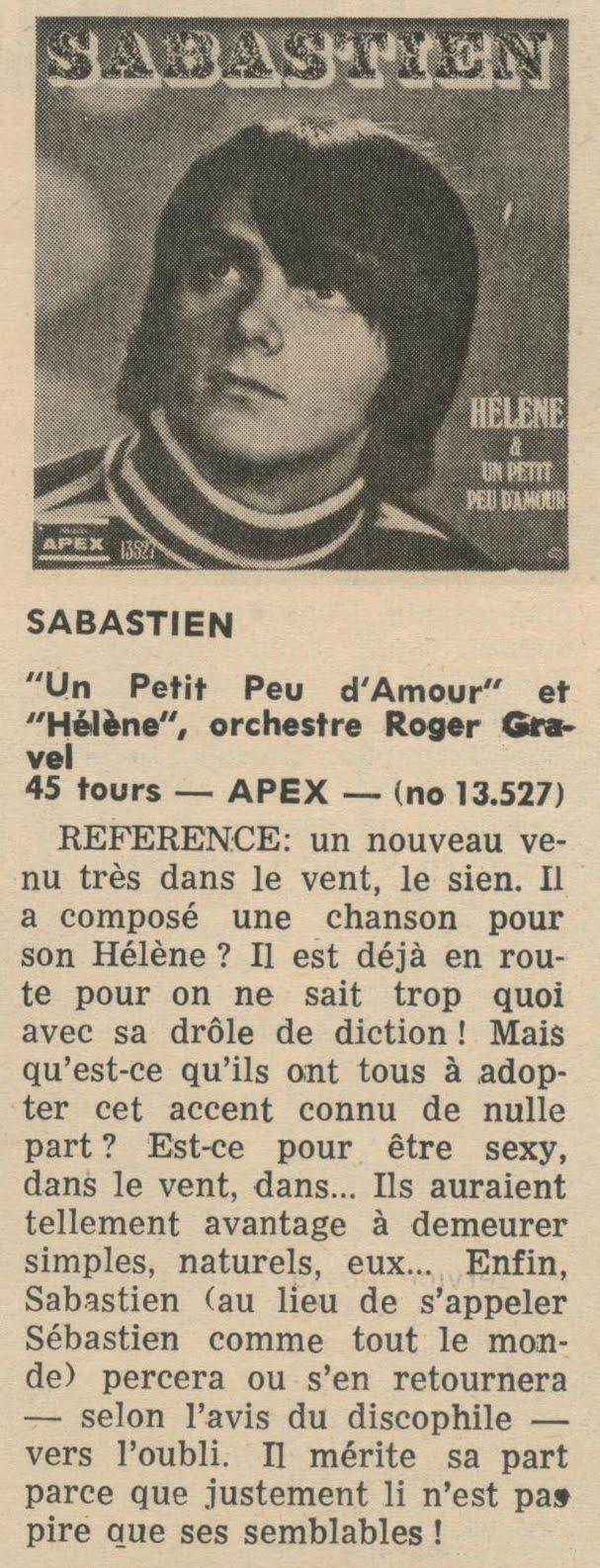 Télé Journal; juin 1969.
