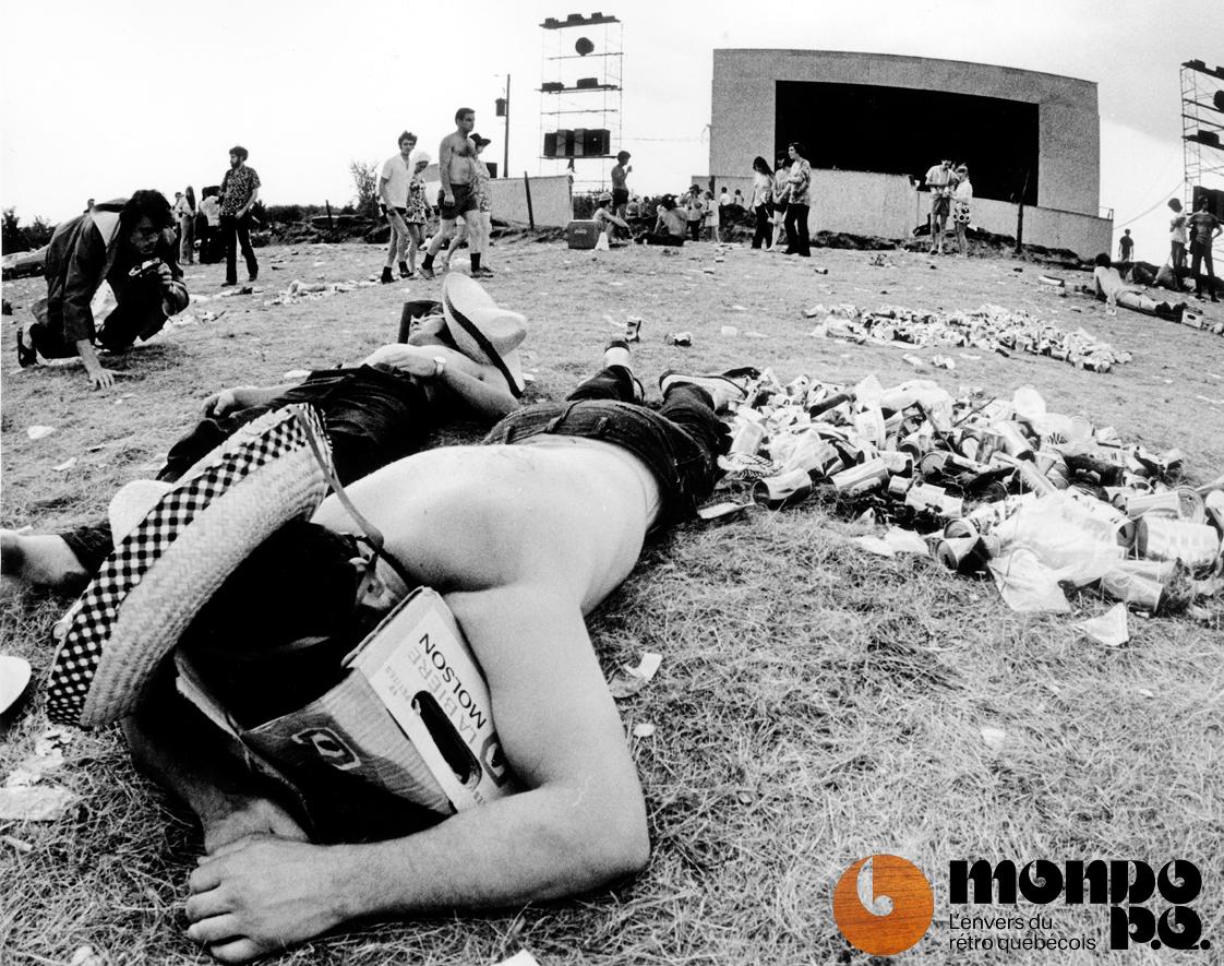 Festival de Manseau le 2 août 1970 (Michel Gravel / La Presse).