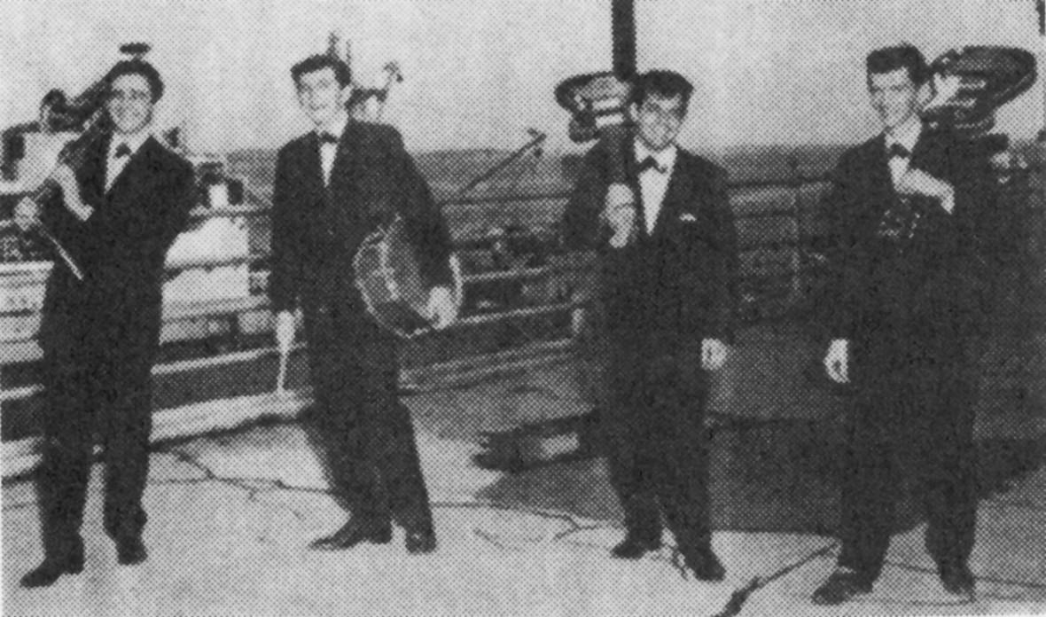 Les Gamnaires (photo tirée du livre de Léo Roy, La merveilleuse époque des groupes québécois des années 60).