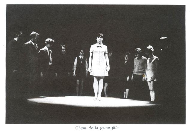 Luc & Lise Cousineau accompagnent les comédiens de la pièce Double Jeu (1969).