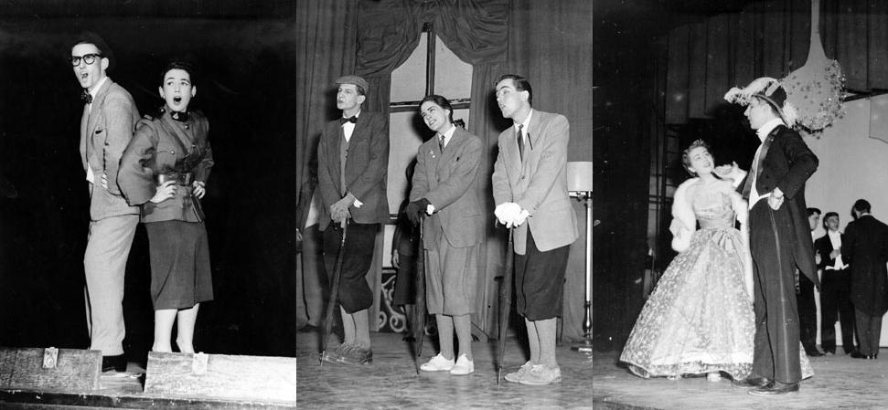 Les comédiens de la revue «My fur lady» (1957).