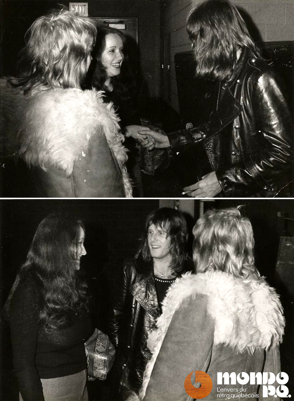 Suzanne Raymond, Keith Emerson & Lise Ravary, janvier 1974.
